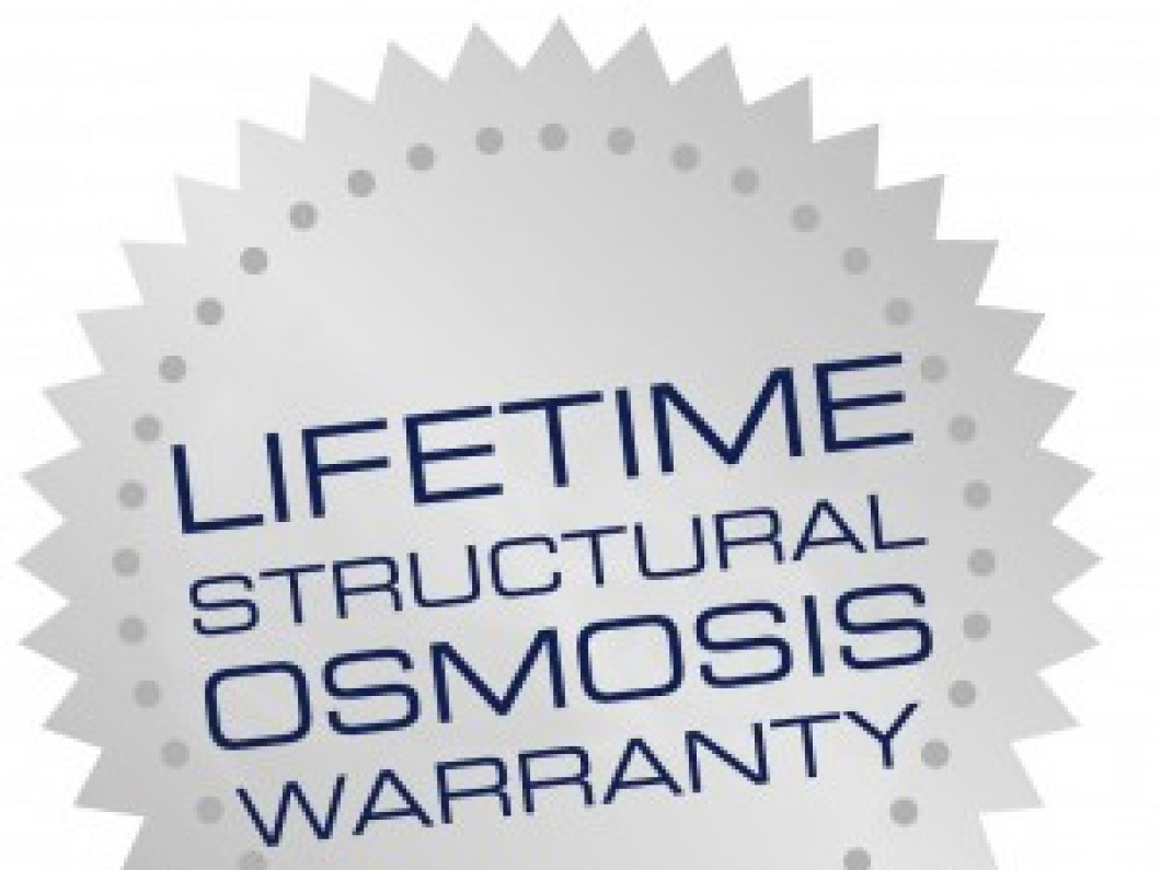 LIFETIME OSMOSIS WARRANTY